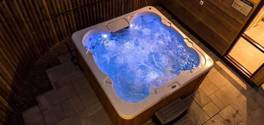 Image of outdoor hot tub