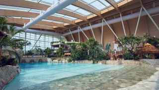 The main pool inside the Subtropical Swimming Paradise