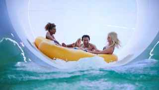 Tropical Cyclone raft ride at the Subtropical Swimming Paradise