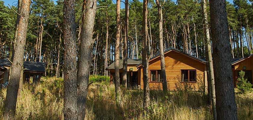 Center Parcs lodge in the forest