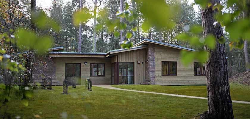6 bedroom woodland lodge in the forest