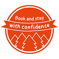 Book and stay with confidence logo